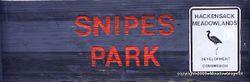 Snipes park sign