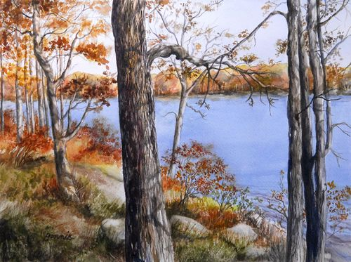Autumn by the lake - Bonnie Heilman