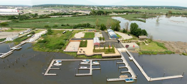 River Barge Park Aerial
