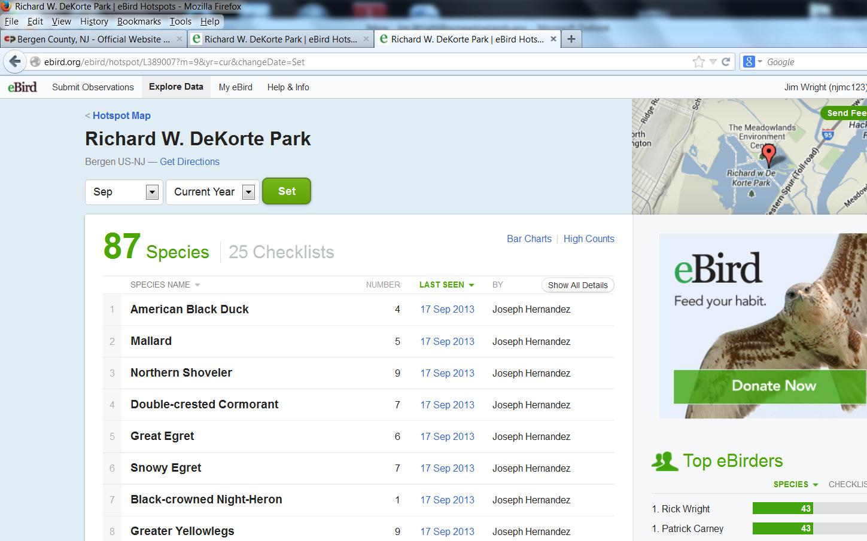 Richard W. DeKorte Park  eBird Hotspots - Mozilla Firefox 9202013 122035 PM
