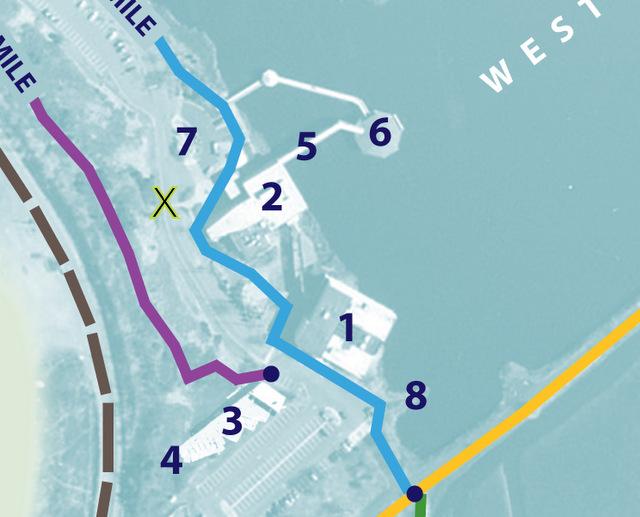 DeKorte trail guide inside map 8-10