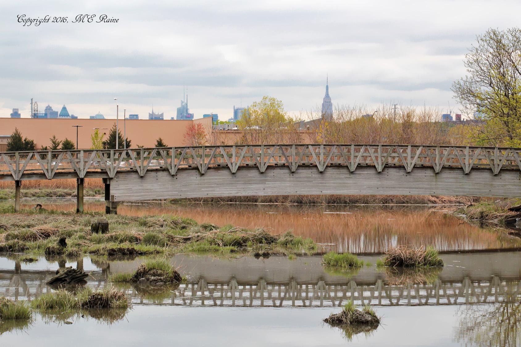 NYC View 040f MCM Mdwlnds NJ w Arched Bridge Reflection 042716 OK FLICKR