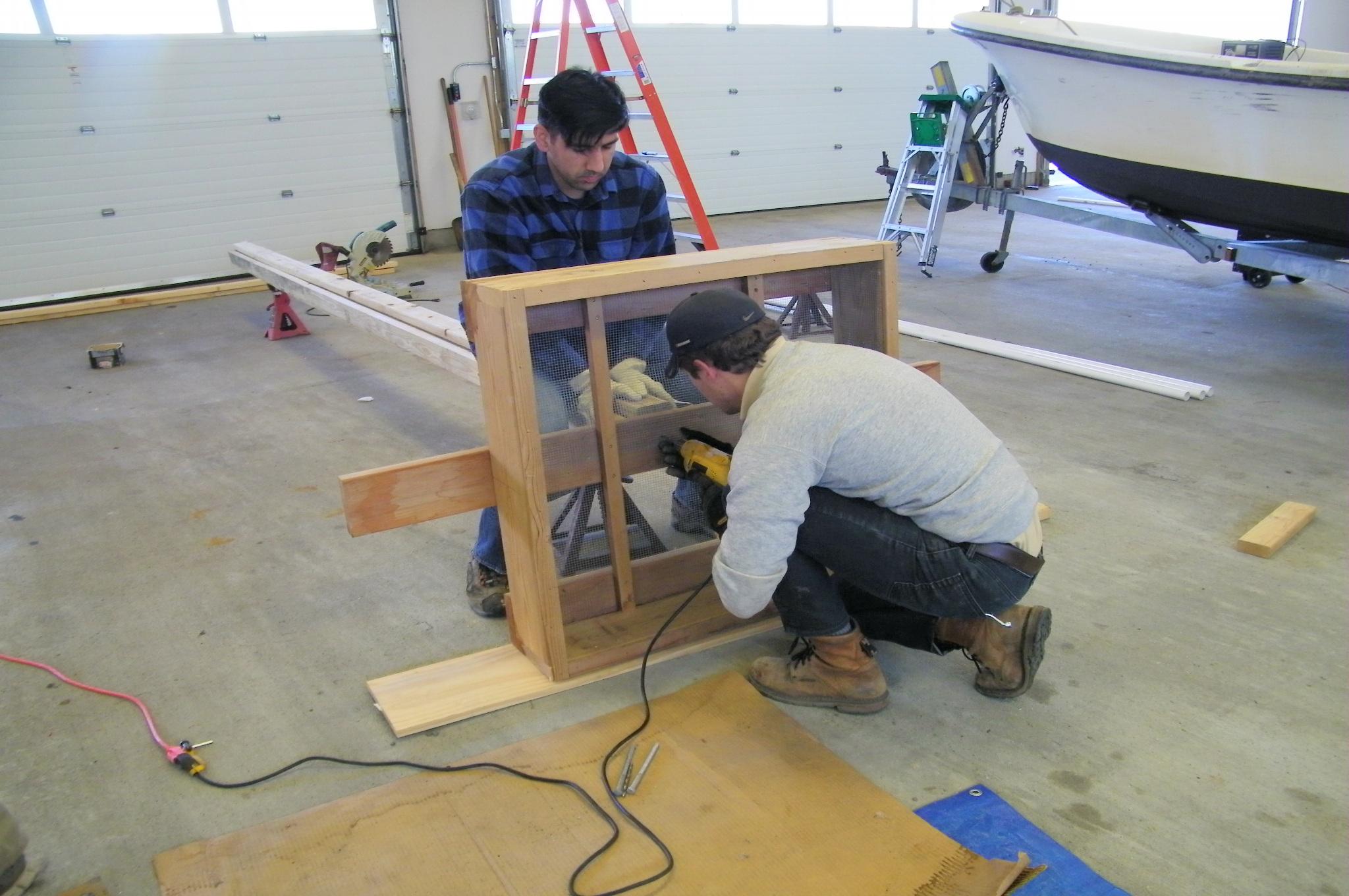 Osprey nest construction