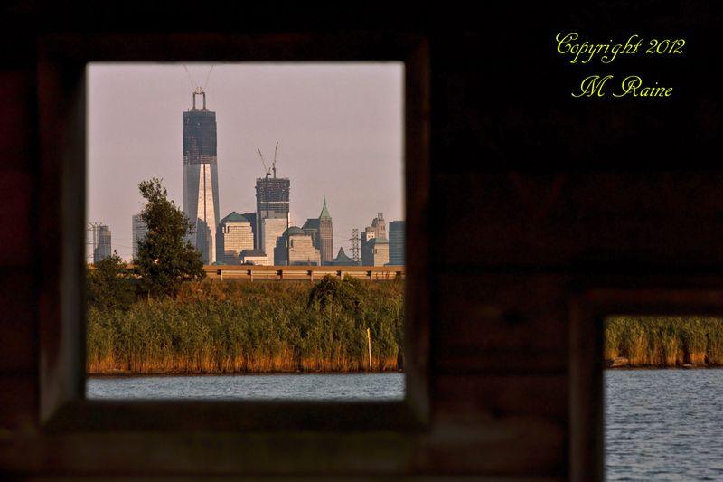 V NYC 012bB RchrdDKorte Park Mdwlnds NJ Freedom Tower Construction Thru Bird Vw Hut 082712 OK BLOG