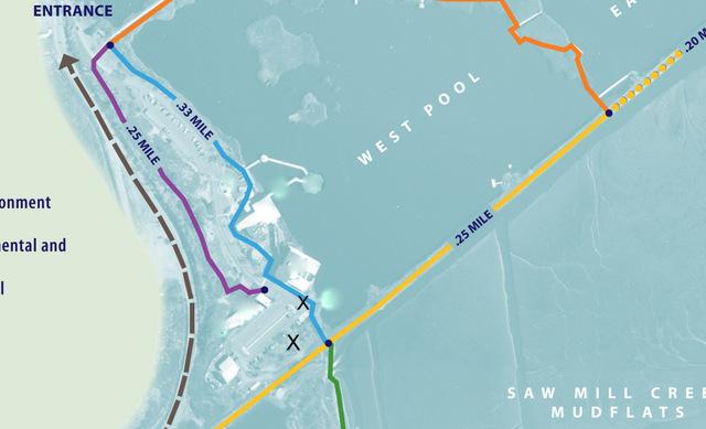 DeKorte trail guide inside map 8-013
