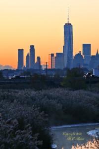 066 V Sunrise 001af RchrdDKorte Park Mdwlnds NJ NYC n Freedom Twr Pre Sun Vw 101915 OK FLICKR