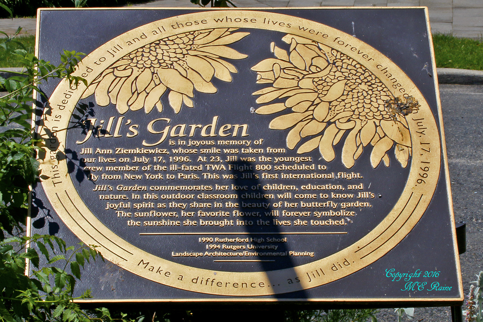 Jill's Garden Plaque