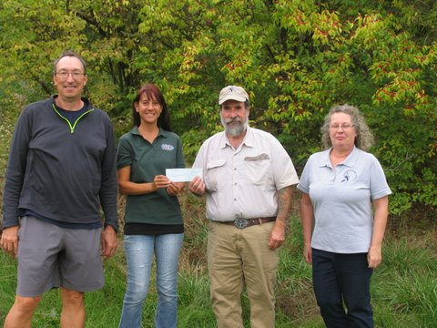 Left to Right: BCAS Field Trip Chair Chris Takacs, NJSEA Senior Natural Resources Program Specialist Gabrielle Bennett-Meany BCAS President Don Torino, BCAS Education Chair Marie Longo